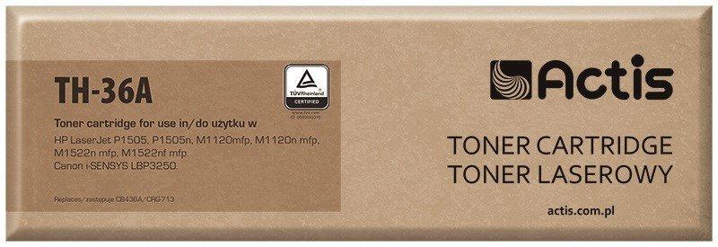 Toner ACTIS TH-36A (zamiennik HP 36A CB436A, Canon CRG-713; Standard; 2000 stron; czarny)