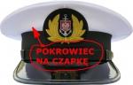 pokrowiec na czapkę kapitana lub oficera Marynarka Handlowa