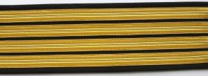 dystynkcja na rękawy marynarki 4 paski
