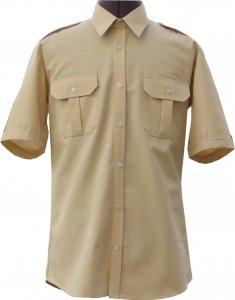 koszulo-bluza mundurowa krótki rękaw beżowa