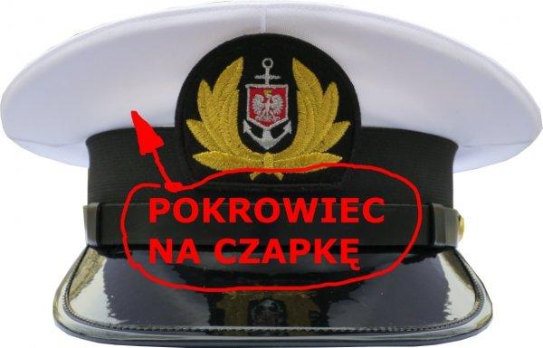 pokrowiec na czapkę Marynarki Handlowej