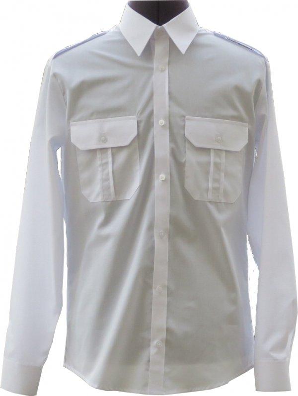 długi rękaw biała mundurowa SLIM