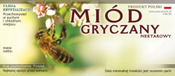 Etykieta samoprzylepna na miód gryczany nektarowy - 100 szt.