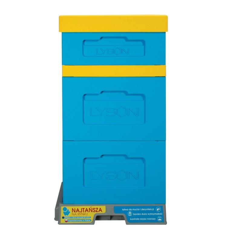Ul wielkopolski 10-ramkowy z dennicą wysoką higieniczną plastikową - malowany