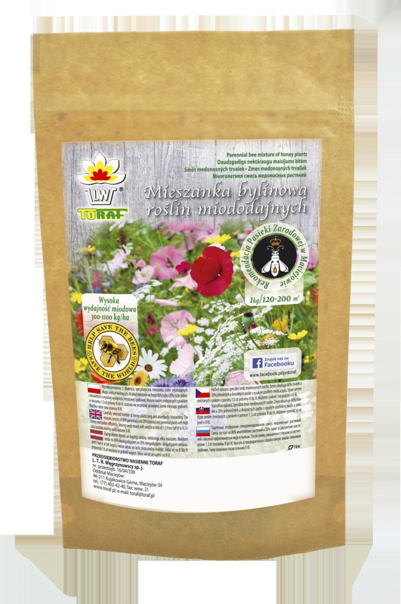 Mieszanka 19 roślin miododajnych na tereny podmokłe (100g)