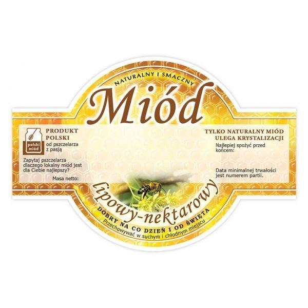 Paczka etykiet okrągłych na miód lipowy (100szt)