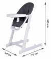 Nowoczesne krzesełko do karmienia INES - szare
