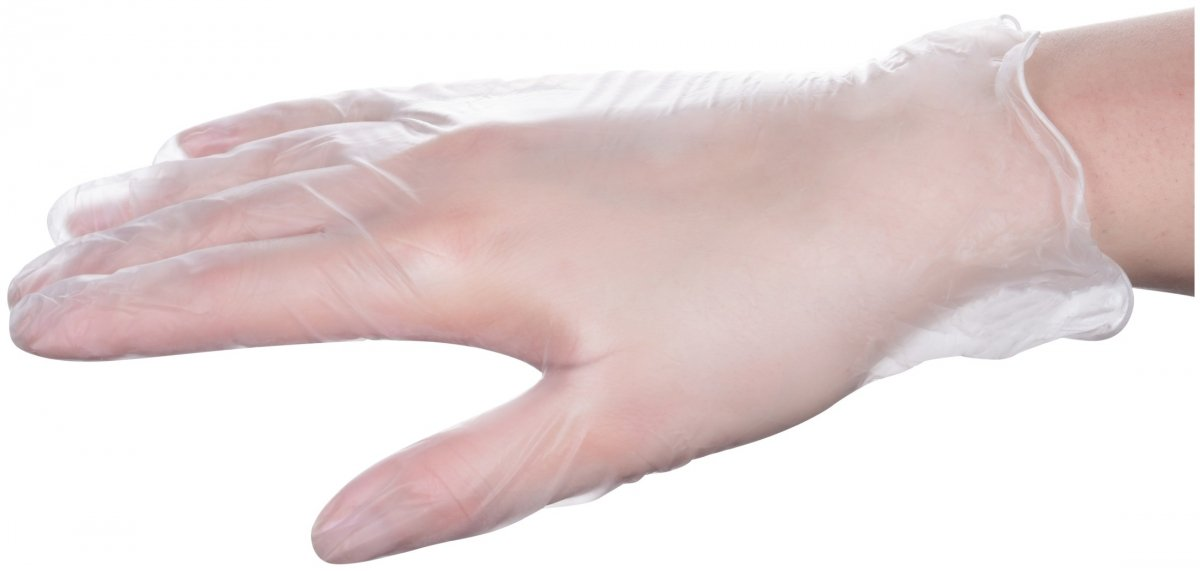 Rękawice winylowe medyczne diagnostyczno-ochronne - bezpudrowe - 100 sztuk - rozmiar XL