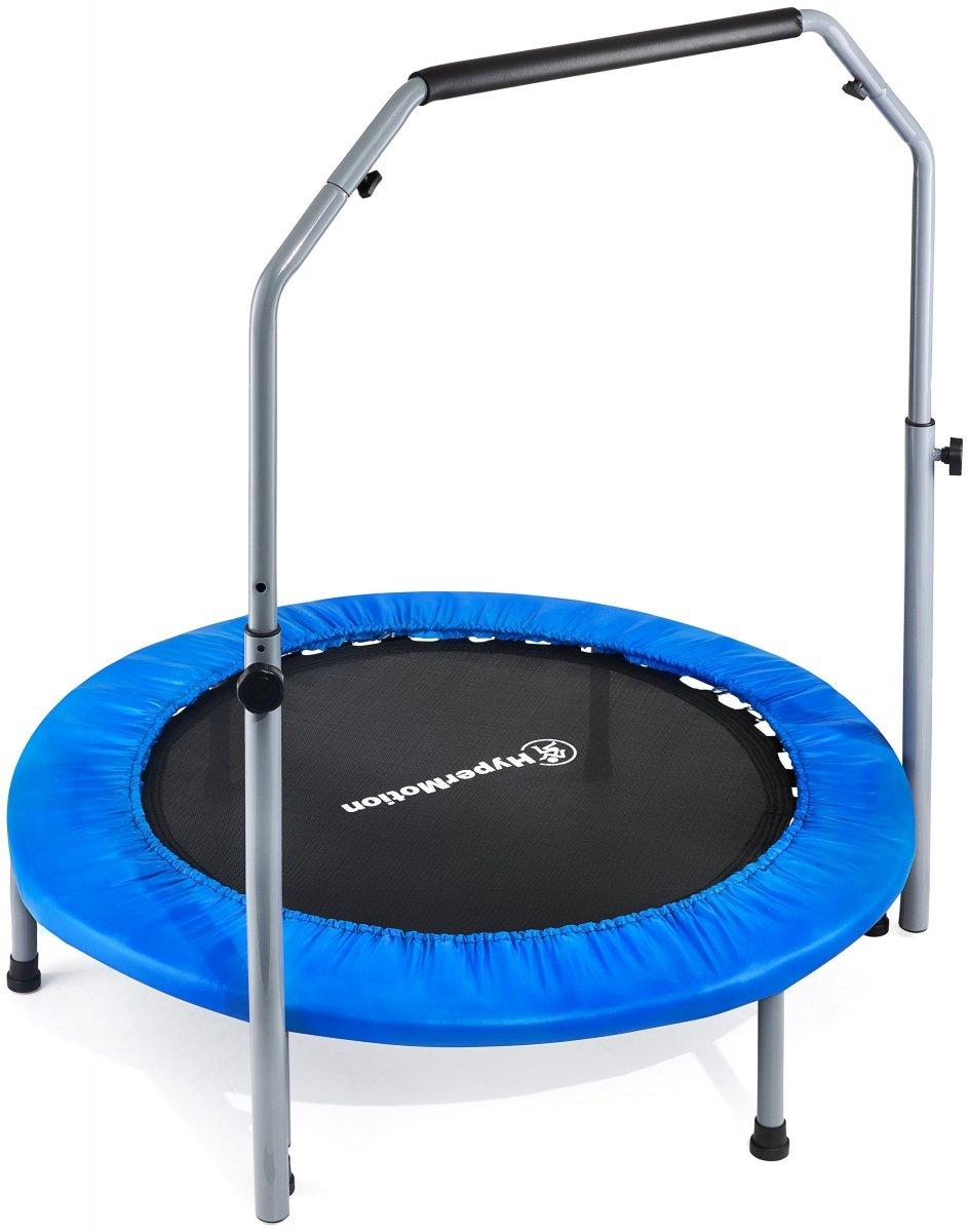 Trampolina dla dzieci, młodzieży i dorosłych - z rączką - 100kg max - 96cm -  do domu i ogrodu