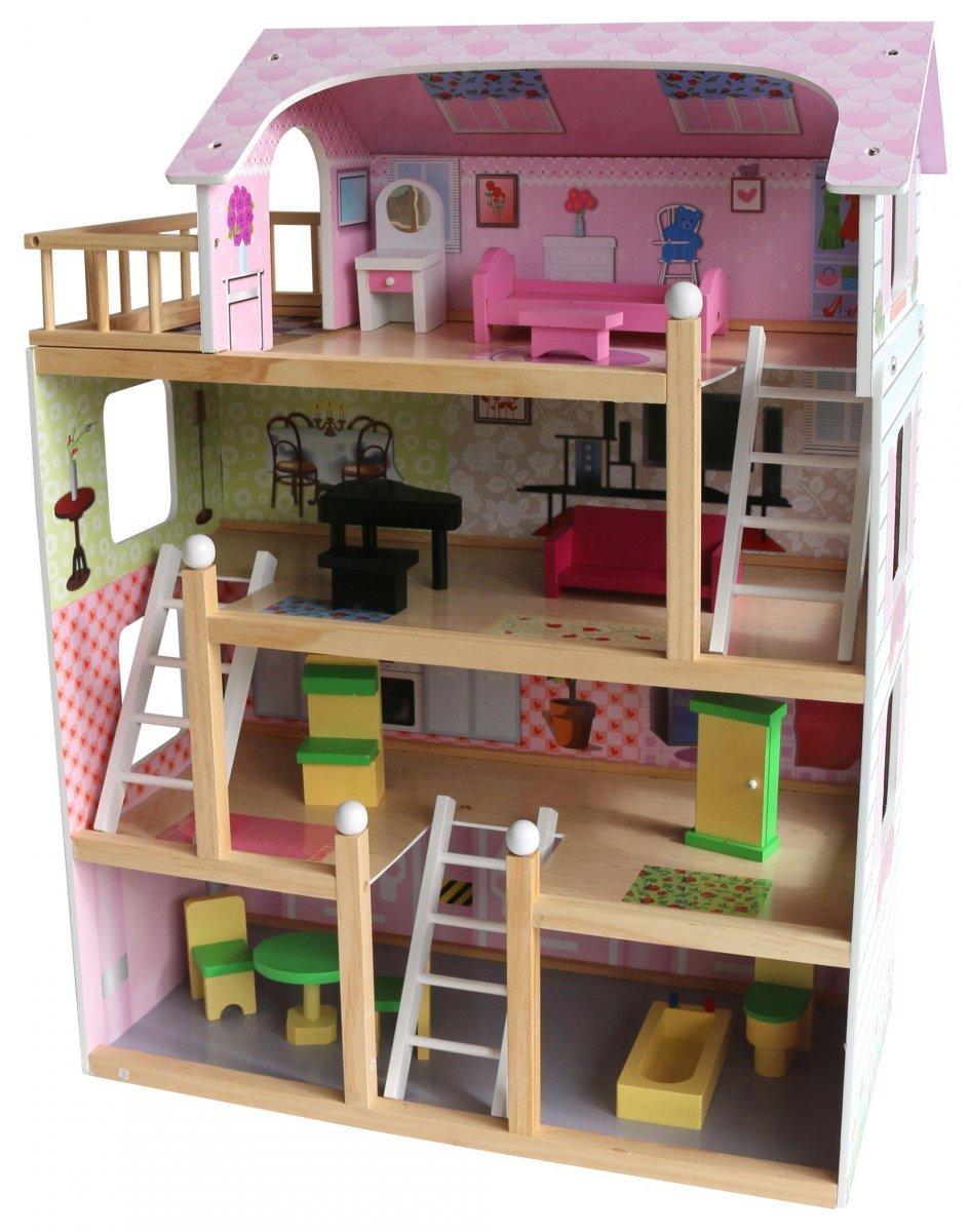 Drewniany domek dla lalek D11