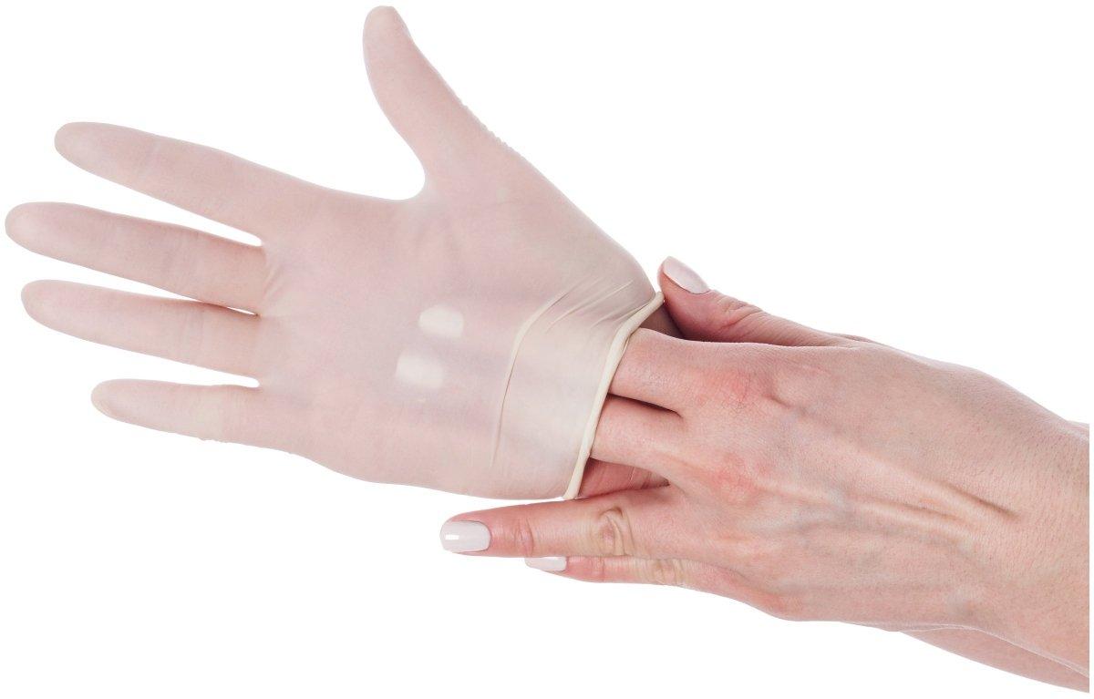 Rękawice lateksowe medyczne - bezpudrowe - 100 sztuk - rozmiar M