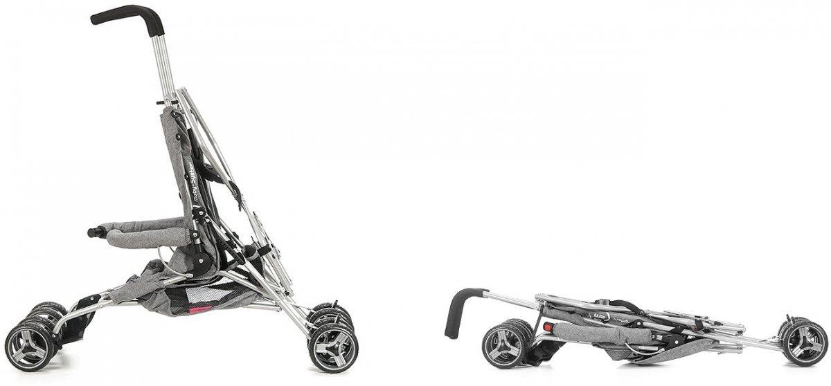 Wózek spacerowy Barton Szary - parasolka, spacerówka