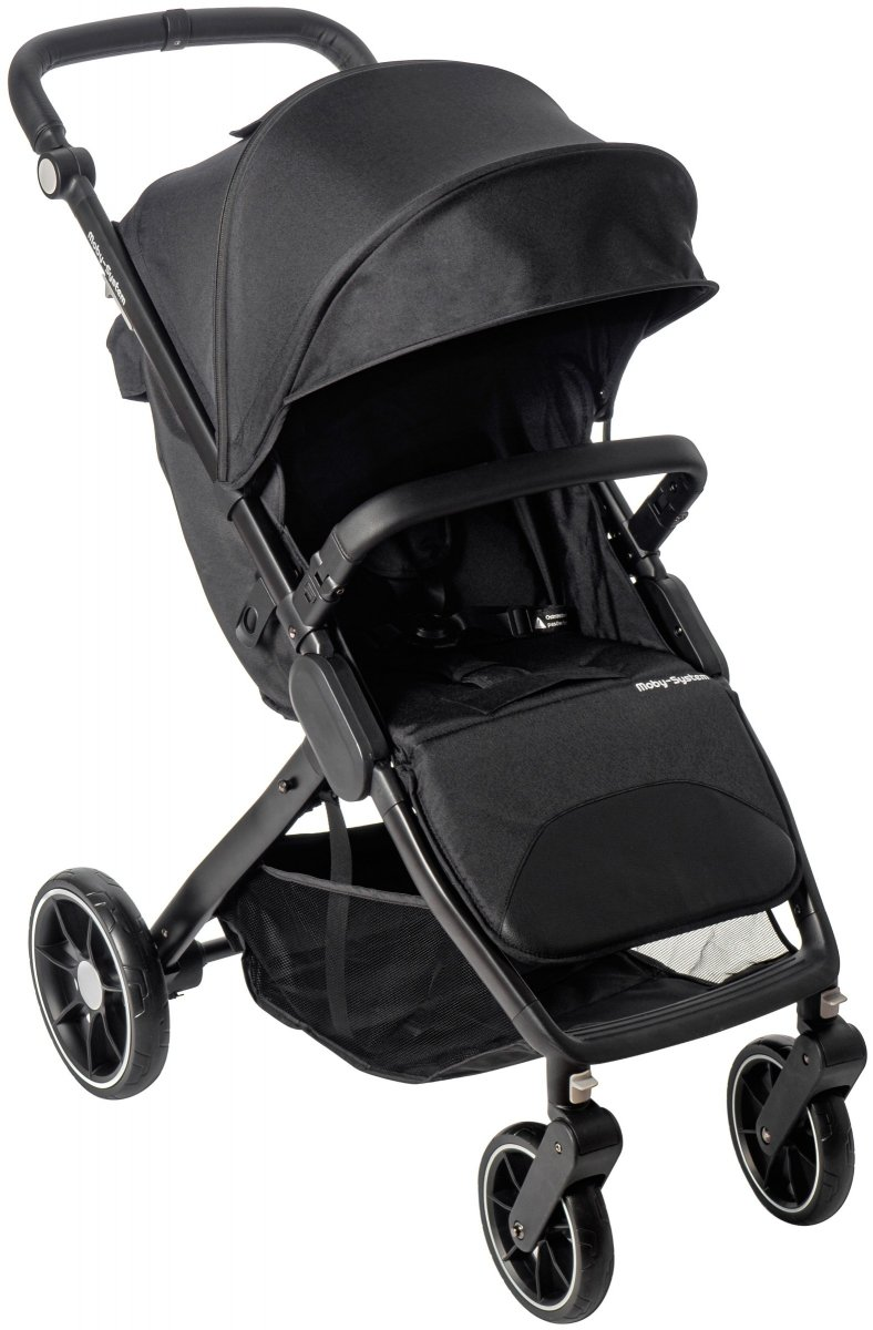Wózek spacerowy dziecięcy Moby-System NADIA - czarny