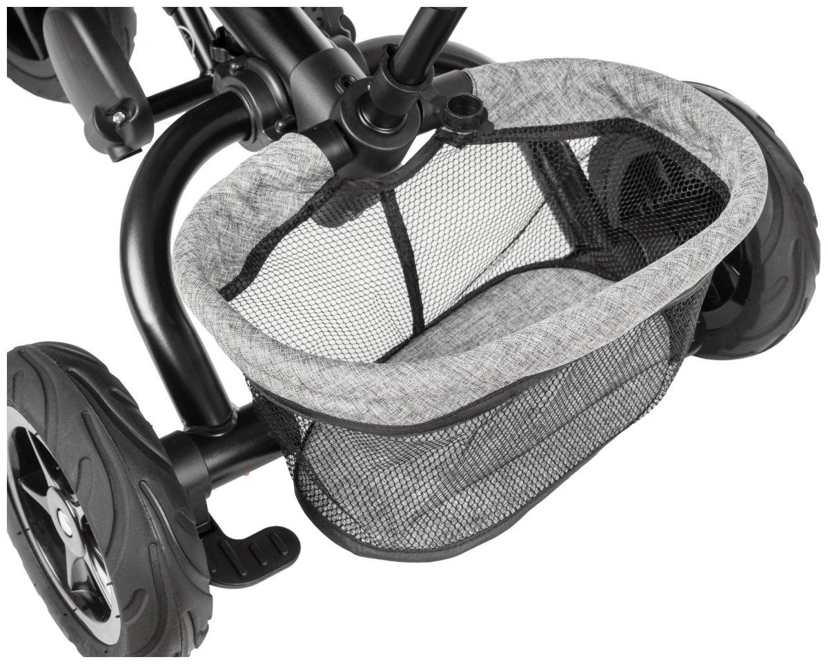 Rowerek trójkołowy HyperMotion TOBI BUZZ - obracany, składany. Kolor: szaro - czarny