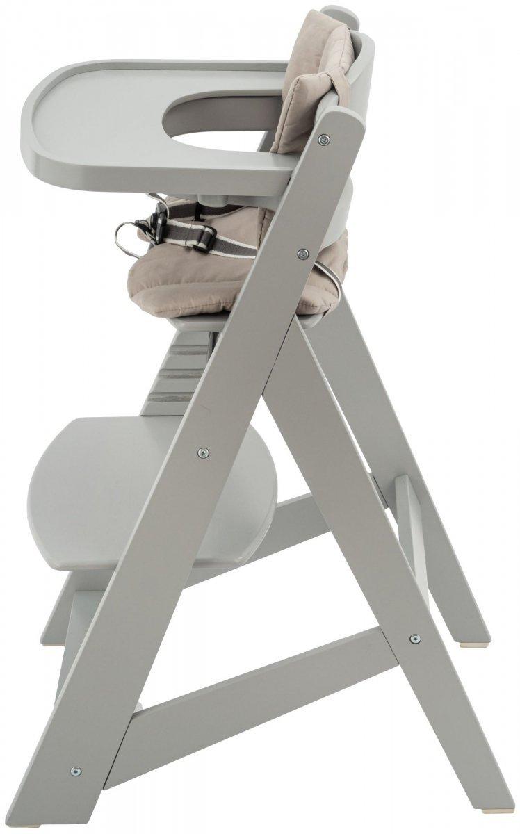 Krzesło do karmienia drewniane Moby-System WOODY - kolor szary