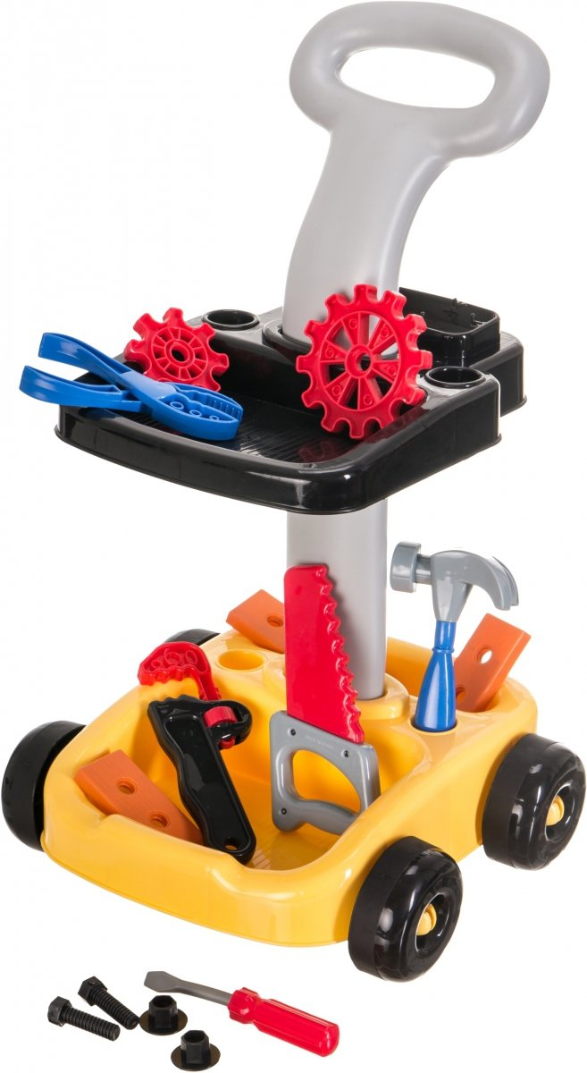 Zestaw Mały Mechanik Warsztat - Wózek