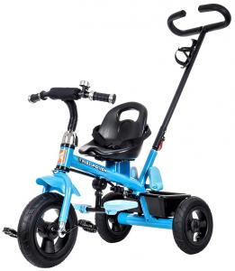 Rowerek Trójkołowy z obracanym siedziskiem TOBI AIR ROTATED - niebieski