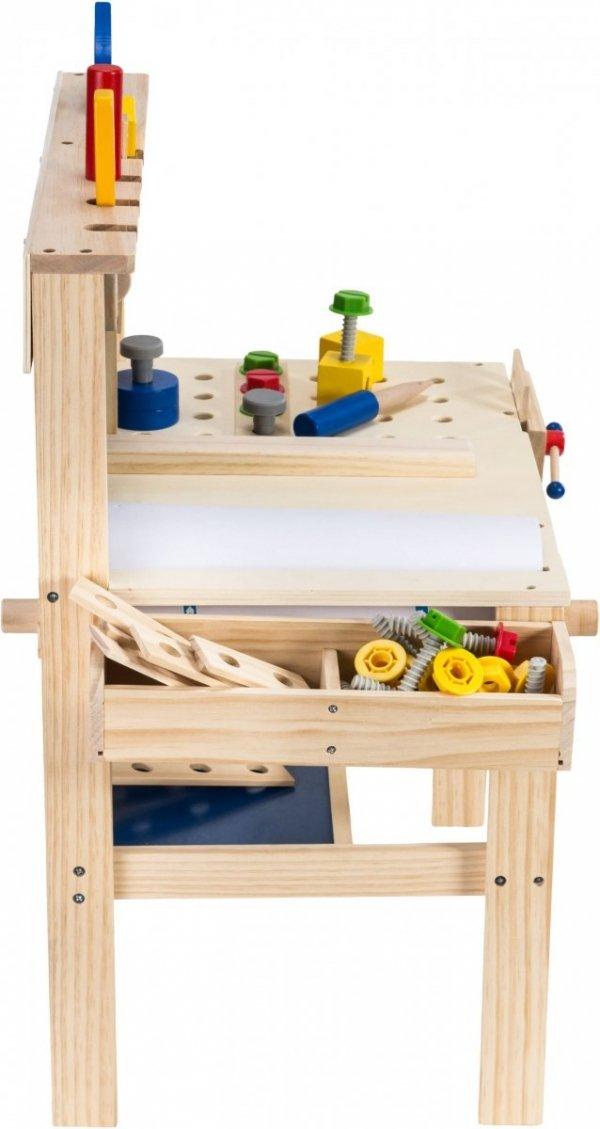 Drewniany zestaw majsterkowicza - 75 elementów