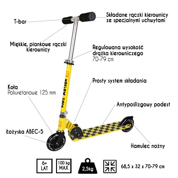 Hulajnoga Bonifacio żółta
