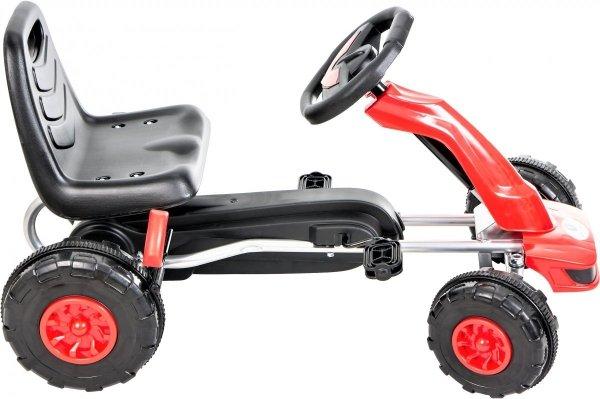 Gokart na pedały - jeździk dla dzieci 3-8 lat - czerwony