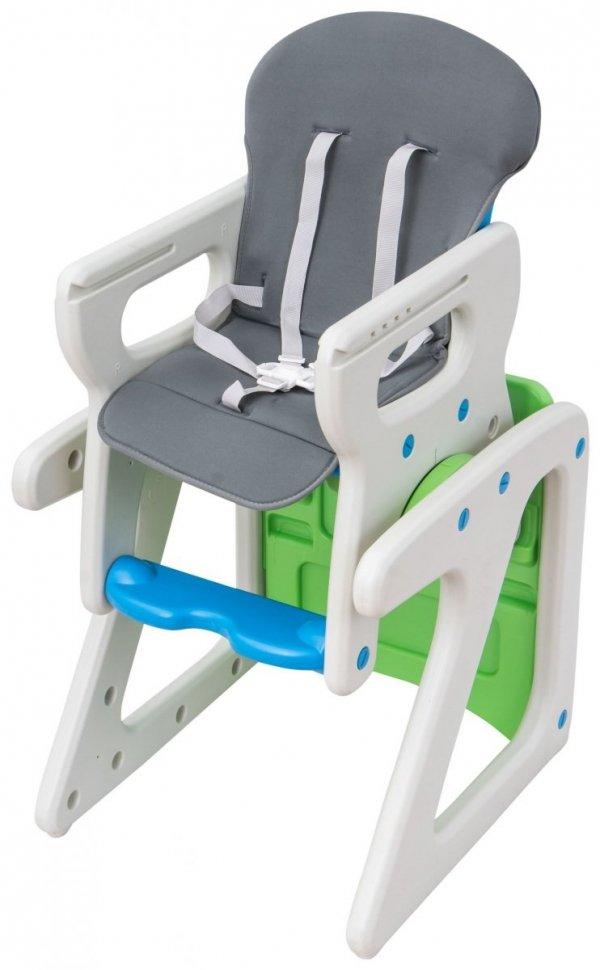 Krzesełko do karmienia JOVI MAMABRUM stolik plus fotelik kolor szary