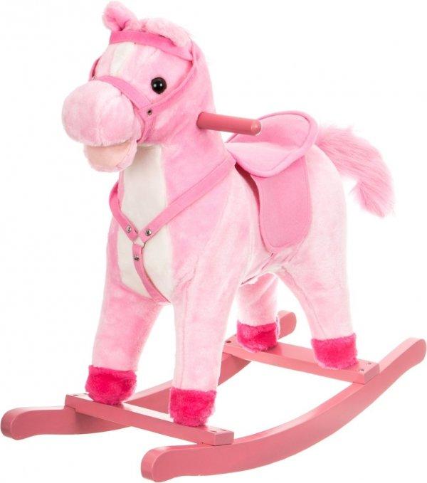 Koń na biegunach - średni 56 cm - różowy