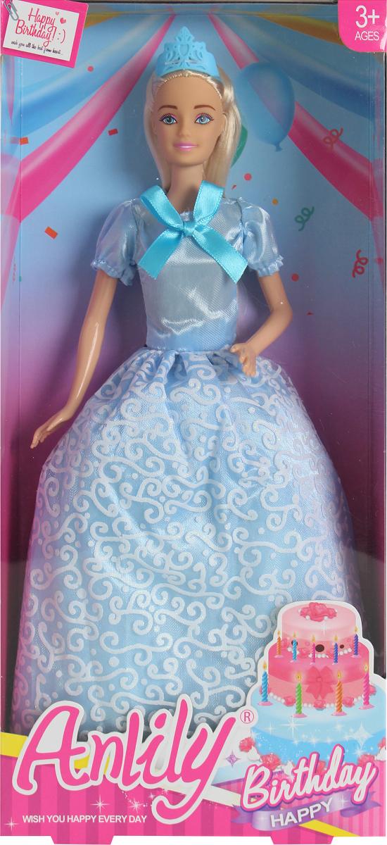 Lalka Anlily - Urodziny - suknia niebieska