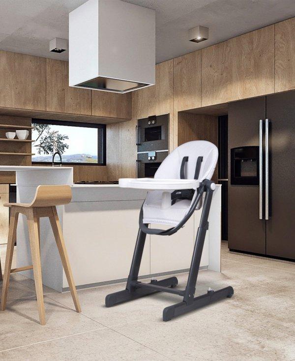 Nowoczesne krzesełko do karmienia INES - białe - przedsprzedaż