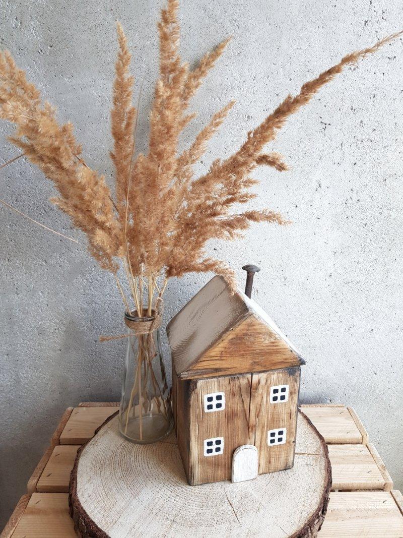Drewniany domek natural/biały