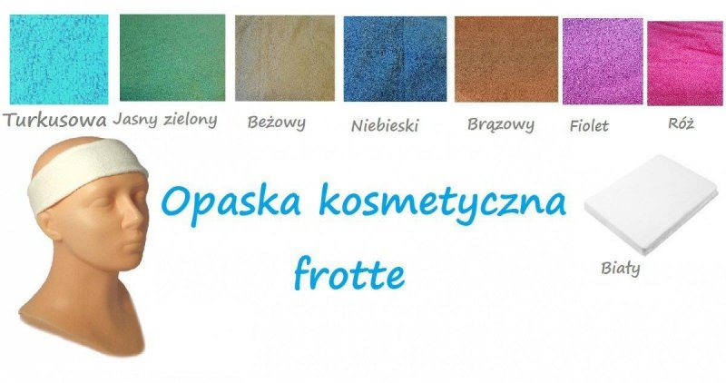 Opaska frotte Aba Group FIOLETOWY