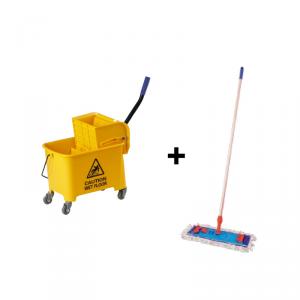 Wiaderko do sprzątania na kółkach 17L z mopem