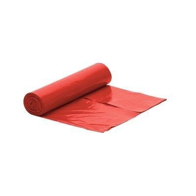 Worek czerwony na śmieci LDPE 60 L/rolka 50 szt
