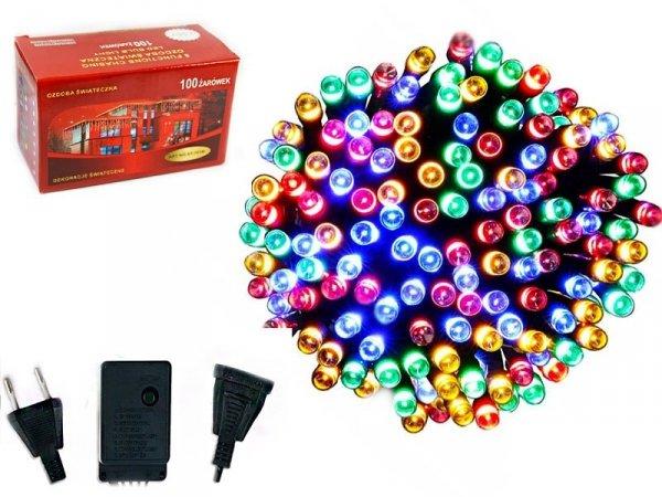 LAMPKI CHOINKOWE 100 LED WEWNĘTRZNE ZEWNĘTRZNE MULTIKOLOR