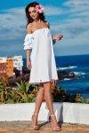 Idealna sukienka bez ramion  L252 biały