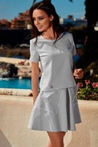 1 Komplet bluzka ze spódnicą L239 jasnoszary PROMO