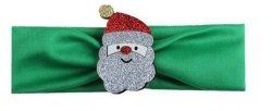 1 kIDS opaska na głowę zielona z Mikołajem
