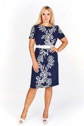 Elegancka sukienka z kwiatowym wzorem
