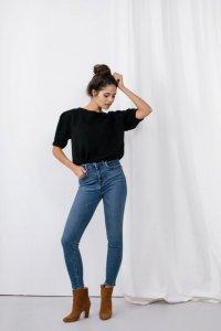 Sweter bufki LS325 czarny