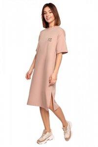 B194 Sukienka t-shirtowa - mocca