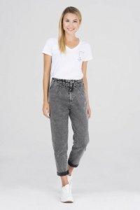 spodnie jeansowe z wiązaniem