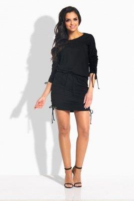 L182 sukienka ze ściągaczami czarny