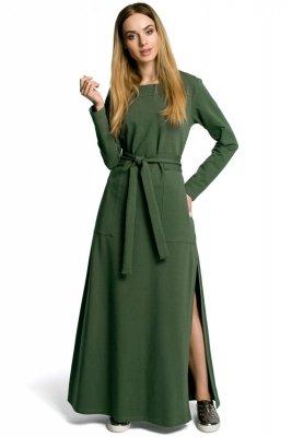 M354 Sukienka khaki