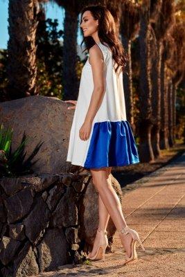 Trapezowa sukienka  L247 ekri-chaber