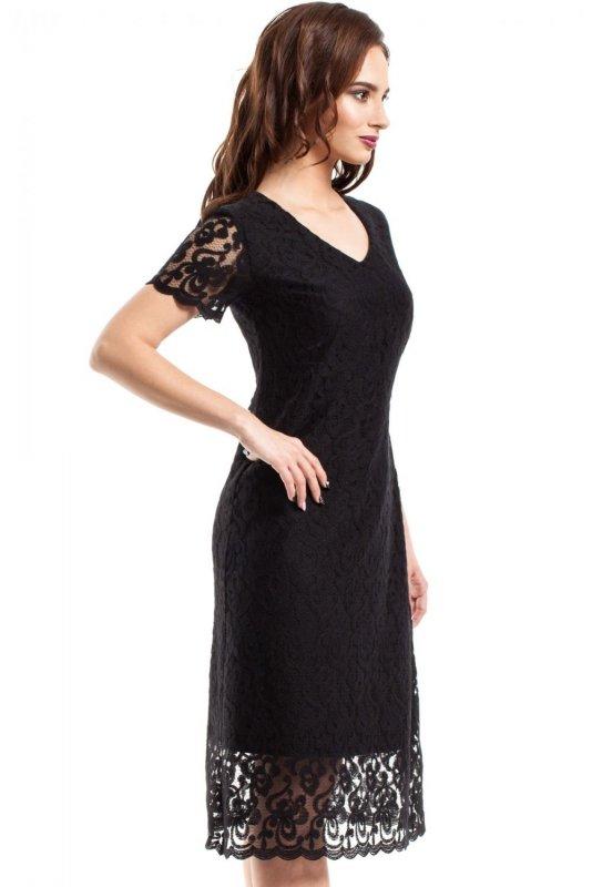 MOE275 sukienka czarna