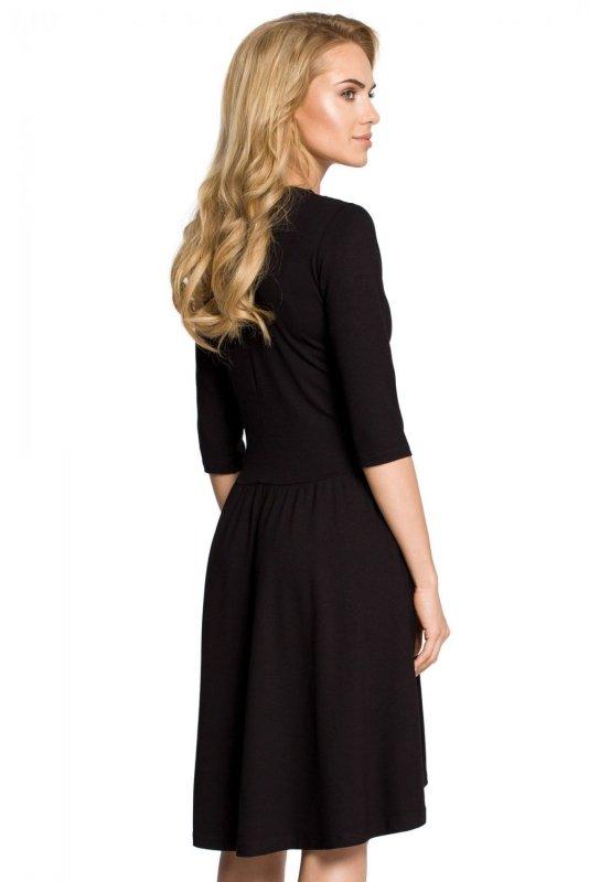 M314 Sukienka czarna