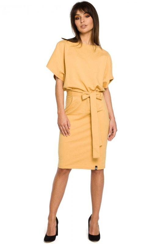 B058 sukienka żółta