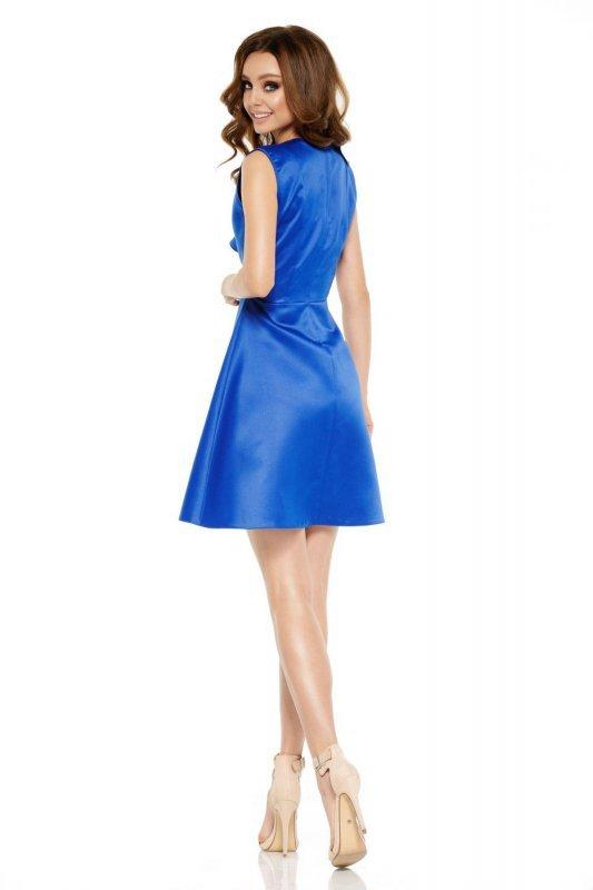 Oszałamiająca sukienka z falbaną L259 chaber