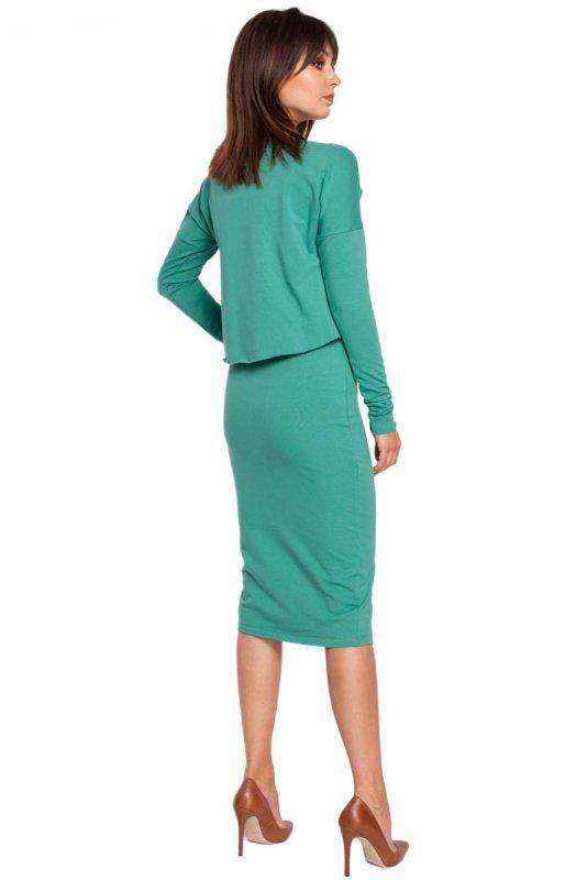 B001 sukienka zielona