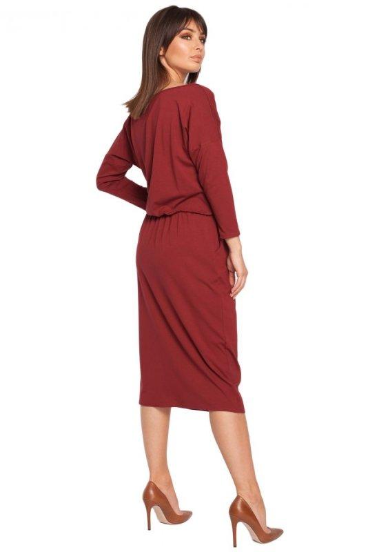 B014 sukienka bordowa