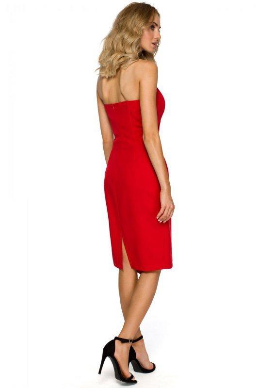 M409 Sukienka gorsetowa - czerwona